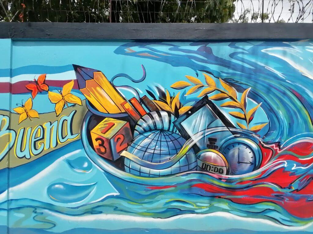 Mural representativo Provincia Hermanas Mirabal